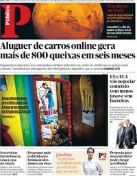 capa Público de 26 julho 2018
