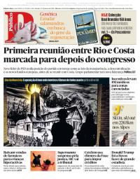 capa Público de 27 janeiro 2018