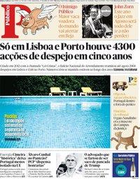 capa Público de 27 julho 2018