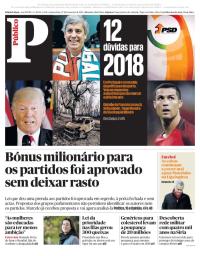 capa Público de 27 dezembro 2017