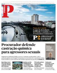 capa Público de 28 janeiro 2018