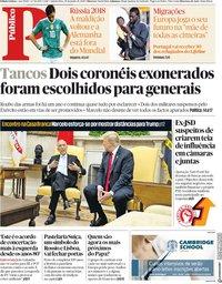 capa Público de 28 junho 2018