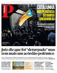 capa Público de 28 outubro 2017
