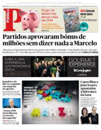 capa Público de 28 dezembro 2017