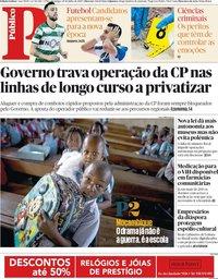 capa Público de 29 julho 2018