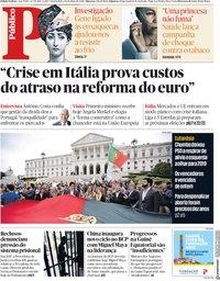 capa Público de 30 maio 2018