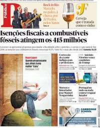 capa Público de 30 junho 2018