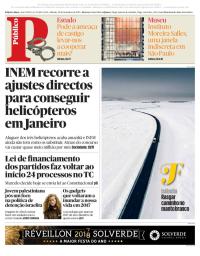 capa Público de 30 dezembro 2017