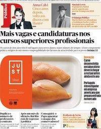 capa Público de 31 agosto 2018