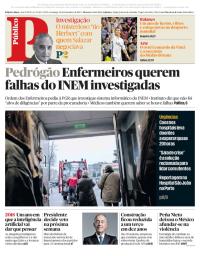 capa Público de 31 dezembro 2017