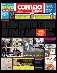 capa Correio da Manhã de 1 janeiro 2018