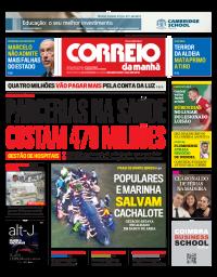 capa Correio da Manhã de 2 janeiro 2018