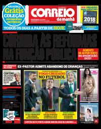 capa Correio da Manhã de 7 janeiro 2018