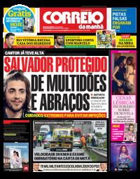 capa Correio da Manhã de 13 janeiro 2018