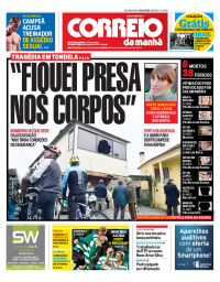 capa Correio da Manhã de 15 janeiro 2018
