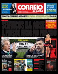 capa Correio da Manhã de 24 janeiro 2018
