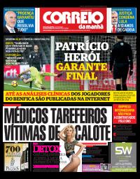 capa Correio da Manhã de 25 janeiro 2018