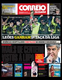capa Correio da Manhã de 28 janeiro 2018