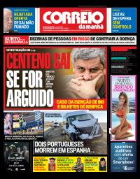 capa Correio da Manhã de 29 janeiro 2018