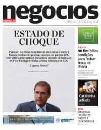 capa Jornal de Negócios de 2 outubro 2017