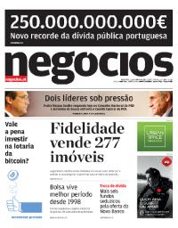 capa Jornal de Negócios de 3 outubro 2017