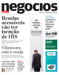 capa Jornal de Negócios de 4 outubro 2017