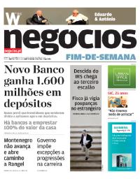 capa Jornal de Negócios de 7 outubro 2017