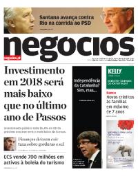 capa Jornal de Negócios de 11 outubro 2017