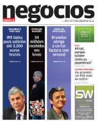 capa Jornal de Negócios de 12 outubro 2017