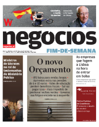 capa Jornal de Negócios de 14 outubro 2017