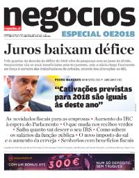 capa Jornal de Negócios de 16 outubro 2017