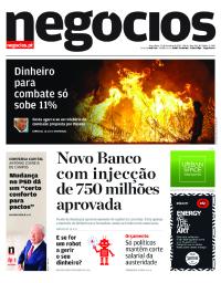 capa Jornal de Negócios de 17 outubro 2017