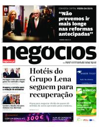 capa Jornal de Negócios de 23 outubro 2017