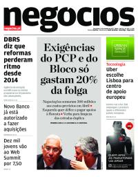 capa Jornal de Negócios de 24 outubro 2017