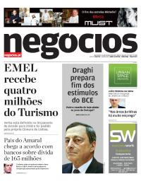 capa Jornal de Negócios de 26 outubro 2017