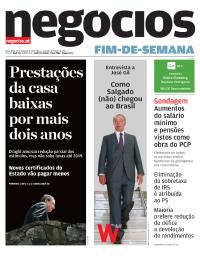 capa Jornal de Negócios de 29 outubro 2017