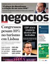 capa Jornal de Negócios de 30 outubro 2017