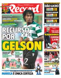 capa Jornal Record de 1 março 2018