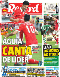 capa Jornal Record de 1 abril 2018