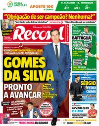 capa Jornal Record de 1 maio 2018