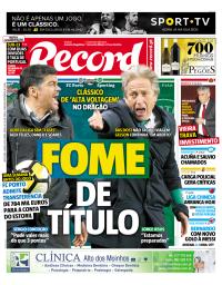 capa Jornal Record de 2 março 2018