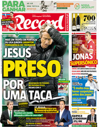 capa Jornal Record de 2 abril 2018