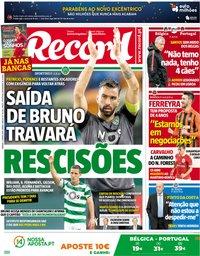 capa Jornal Record de 2 junho 2018
