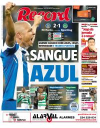 capa Jornal Record de 3 março 2018