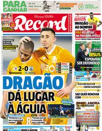 capa Jornal Record de 3 abril 2018