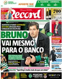capa Jornal Record de 3 maio 2018