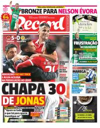 capa Jornal Record de 4 março 2018