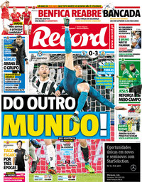 capa Jornal Record de 4 abril 2018