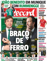 capa Jornal Record de 4 setembro 2018
