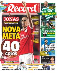 capa Jornal Record de 5 março 2018